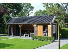 Blokhutten/Veranda's :: Trendhout :: Trendhout Kapschuur de Hoeve XL 9260 - Lek Tuinmaterialen
