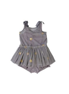 Stella McCartney Bell Baby Girl Star Tulle Dress - Grey