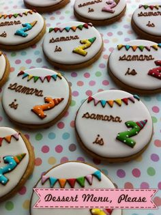 Birthday cookies...ADORABLE!!