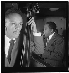 [Portrait of Charlie Parker, Tommy Potter, and Max Roach, Three Deuces, New York, N.Y., ca. Aug. 1947] | Library of Congress