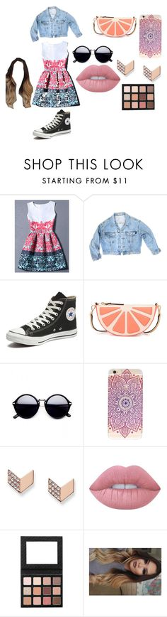 chic evening by kata-723 on Polyvore featuring moda, WithChic, GUESS, Converse, Kate Spade, FOSSIL and Lime Crime