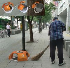 Creative garbage can design 7-11