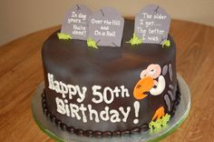 Over the Hill birthday cake by Cake is the Best Part Bakery, Redding, CA 50th Birthday, Birthday Cakes, Graveyard Cake, Over The Hill Cakes, Cake Ideas, Bakery, Birthdays, Party Ideas, Desserts