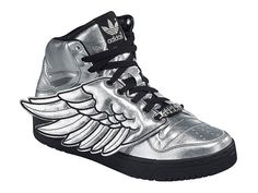 """adidas-originals-jeremy-scott-js-wings-preview."" Jeremy Scott wing shoes from 2009. I wanted a pair as soon as I saw the knock-off tutorial on Threadbanger. I have a big chunk of silver denim kicking around somewhere..."