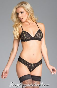 db0532708 Every girl should have delcious lingerie set. Black bra set is so cute.