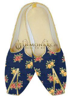 ce7137c86e1a  navy indian mens shoes  sherwani juti  traditional menswear