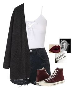 """""""Outfit of the day"""" by haileypariswatson ❤ liked on Polyvore featuring Topshop, Acne Studios and Converse"""