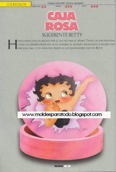 Moldes para Todo: :: Caja Rosa Betty Boop ::