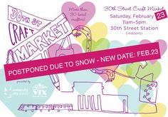 New date for the 30th St Craft Market Feb 23!