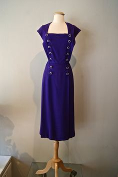 Vintage 1940's Dress // 40's Crown Royale Purple by xtabayvintage, $89.00