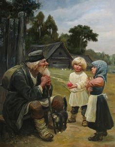 Wanderer by Andrey Shishkin(well-known artist, who was born in Moscow in 1960. Here he lives and works now. This Russian artist works in the style of realistic academic painting and creates paintings that delight in its splendor).