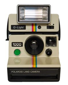Polaroid 1000 + QLight flasg