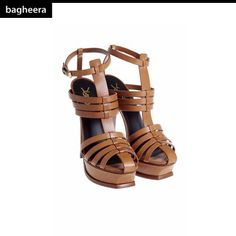 From YVES SAINT LAURENT:  Multistrap Leather Sandals / Sandalo in Pelle a Listini. Buy on: http://ow.ly/nrYq8