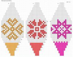 Christmas Charts, Christmas Tree Pattern, Christmas Toys, Xmas Ornaments, Christmas Baubles, Knitting Charts, Knitting Yarn, Bead Loom Patterns, Cross Stitch Patterns