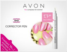 Want a Nail Bar Finish? Get This Great Corrector Pen From Avon.  Order Now - www.facebook.com/AvonNewark