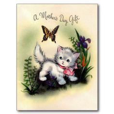 Vintage Mother's Day Postcard. #mothersday