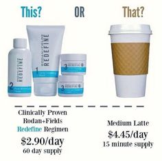 What's in your wallet!  An investment of only $2.90 a day for healthy skin!  What will you choose?  Ghaens.myrandf.com