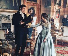 Rufus Sewell and Jenna Coleman having fun behind the scenes!