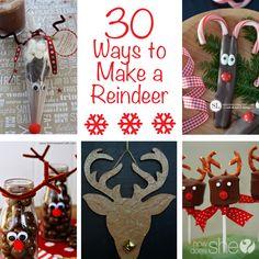 30 Ways to Make a Reindeer! Seriously so cute! Howdoesshe.com