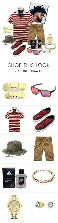 """""""Dirty South"""" by missactive-xtraordinary ❤ liked on Polyvore featuring Oakley, Urban Pipeline, adidas, Bling Jewelry, men's fashion and menswear"""