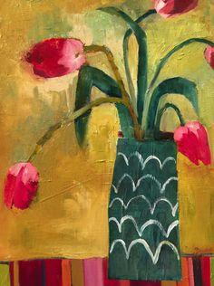 """Santa Fe Tulips"" by Santa Fe Artist Annie O'Brien Gonzales"