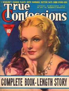 True Confessions (October 1938) by Zoë Mozert