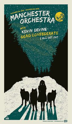 GigPosters.com - Manchester Orchestra - Kevin Devine - Dead Confederate - All Get Out