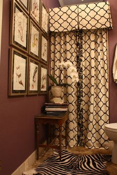 Custom Shower Curtain Bold Wall Color Accented By Neutrals Animal Print Rug