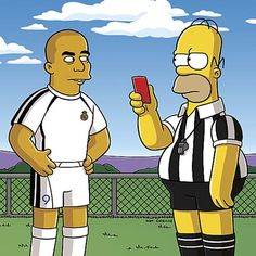 Ronaldo the Soccer Player on The Simpsons