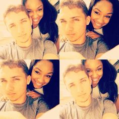 """blackgirlwhiteboylove: """"I looooove my baby. He's everything I ever wanted in a person. Black Woman White Man, Black And White Love, White Boys, Swag Couples, Couples In Love, Relationships Love, Relationship Goals, Interracial Family, Interracial Marriage"""