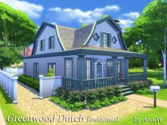 2 sotries Dutch style house in Willow Creek. Living & dining area, kitchen, bathroom, study, one bedroom on the first floor. Master room is on the second floor with full bathroom. Fenced in...
