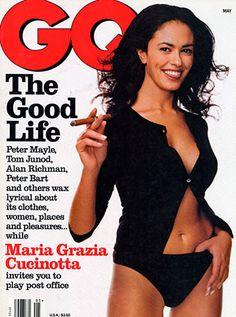 GQ MAY 1997 maria grazia cucinotta