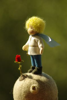When my son went to school, he asked me to make him a friend who will help him to be in the adult world. So I got this toy - the little prince, who is