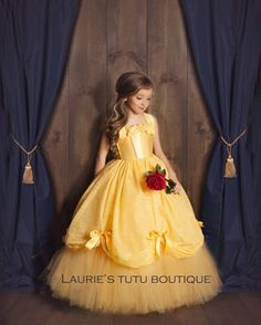 Best 12 Belle Dress- Princess Belle Tutu Dress- Belle Costume- Beauty and the Beast Belle Tutu, Belle Dress Kids, Tutu Diy, Little Girl Dresses, Flower Girl Dresses, Robes Tutu, Yellow Gown, Baby Dress, Baby Skirt