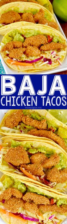 These Baja Chicken Tacos are so packed with flavor, you are going to want to make them for weeknight dinners and your parties!