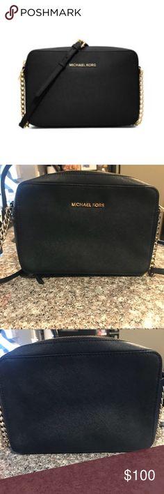 Michael Kors Cross-Body Handbag MICHAEL Michael Kors Jet Set Travel Large Chain Strap Cross-Body Bag Michael Kors Bags Crossbody Bags