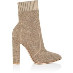 Gianvito Rossi Women's Isa Bouclé-Knit Ankle Boots (64.850 RUB) ❤ liked on Polyvore featuring shoes, boots, ankle booties, ankle boots, footwear, gianvito rossi, bisque, knit boots, chunky heel boots and chunky heel booties