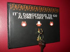 The Geekiest Way To Hang Your Keys. and most awesome.