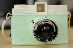 Seafoam green plastic Diana+ camera :) This was an Urban Outfitters exclusive edition
