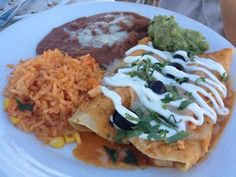 Fine Dining at The Cliff Restaurant. Chicken Enchiladas.  (not an original RE/MAX Evolution picture)  For more information: http://www.yelp.com/biz/the-cliff-restaurant-laguna-beach