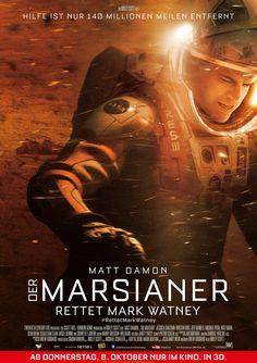 """Der Marsianer - Rettet Mark Watney, Ein Film von Ridley Scott mit Matt Damon, Jessica Chastain. Übersicht und Filmkritik. Die NASA treibt mit der """"Ares 3""""-Mission die Erforschung des Mars voran. Die Astronauten Mark Watney (Matt Damon), Commander Lewis (Jessica Chastain), Rick Martinez (Michael Peña), Chris Beck (Sebastian Stan), Alex Vogel (Aksel Hennie) und Beth Johan..."""
