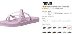 Teva Olowahu flip flops low as $15, which is a great price, stock up