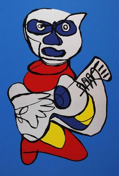 Karel Appel Original Art Silkscreen Kool Luke Guitar Indigo Hands - Silkscreens Art - Ideas of Silkscreens Art Cobra Art, Art Informel, Paintings I Love, Oil Paintings, Dutch Painters, Outsider Art, Textile Artists, Pictures To Draw, Print Artist
