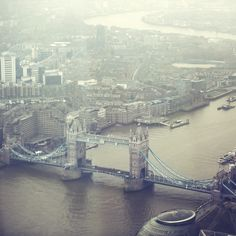 London from above - Tower Bridge and the River Thames on a winter's day #BurberryWeather 7°C | 44°F