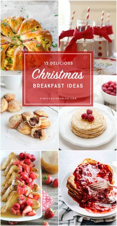 Breakfast ideas the whole family will love waking up to Christmas morning! 15 delicious and unique Christmas breakfast ideas that the whole family will love! Aebleskivers, stuffed french toast, yogurt pancakes with buttermilk syrup. Christmas Morning Breakfast, Christmas Brunch, Christmas Cooking, Noel Christmas, Christmas Treats, Holiday Treats, Holiday Recipes, Christmas Recipes, Christmas Turkey