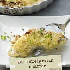 http://eatsmarter.de/rezepte/kartoffelgratin-smarter – der cremige Beilagen-Klassiker zergeht auf der Zunge