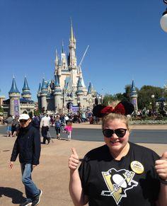 Twitter user @jstickel73's daughter shows off her Pens pride at Disney World.