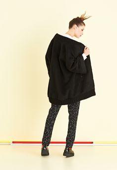 Cappotto dalla forma a kimono con zip e balza | #ottodAme #FW15