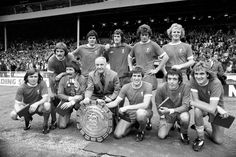 Bill Shankly with his LFC Charity Shield winners in 1974