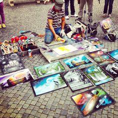 Street artist, Piazza Navona, Roma
